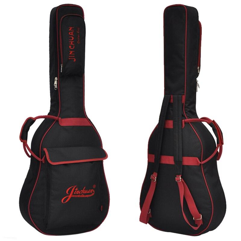 36 39 41 inch Folk guitar package Acoustic Guitar Double Straps Padded Guitar Soft Case Gig Bag Backpack waterproof Ukulele Bag