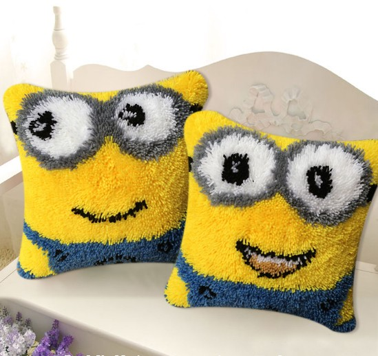 Cartoon Latch Hook Kits Pillow Coverhand Craft Embroidery