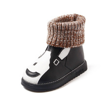 Child Western Boots Boy Girls Flat Superflys Kids Purecontrol Toddler Baby Rubber Walking Boots Children Winter Shoes 60Y045