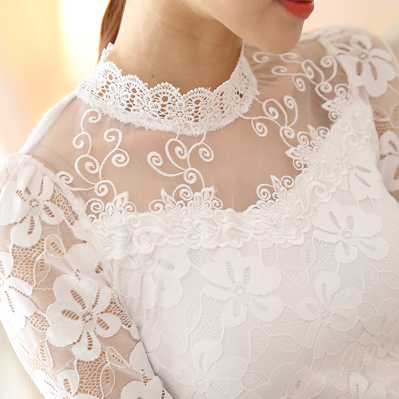 New blusas autumn slim long sleeve blouse and shirt floral for White floral shirt womens
