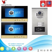 YobangSecurity Video Intercom 7Inch Video Door Phone Doorbell Chime RFID Access Control With Video Recording Take