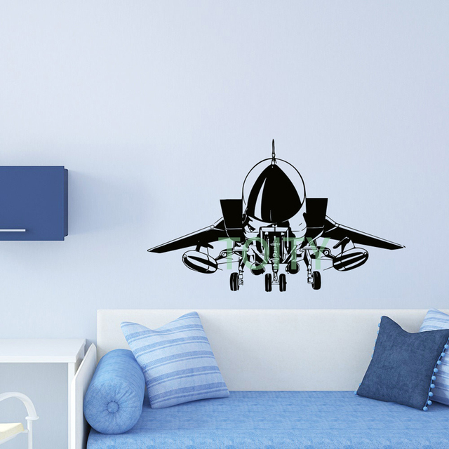 Airplane Wall Decal Vinyl Sticker US Air Force Army Aviation Plane