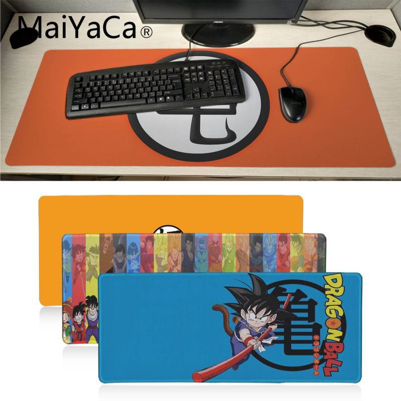 Maiyaca Dragon Ball Dbz Goku Logo Beautiful Anime Mouse Mat Gaming Mouse Pad Xl Speed Keyboard Mat Laptop PC Notebook Desk Pad