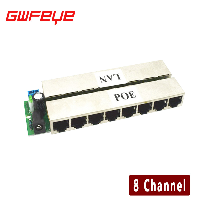 GWFEYE 8CH Channel CCTV POE Injector For Surveillance IP Cameras Power Over Ethernet Adapter Without Shell width 25mm 700c custom sticker chinese carbon cyclocross road bike disc clincher wheels 38mm qr front 9 100mm rear 9 135mm