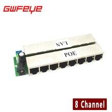 GWFEYE 8-КАНАЛЬНЫЙ Канала CCTV POE Инжектор Для Ip-камер Видеонаблюдения Power Over Ethernet Адаптер Без Оболочки