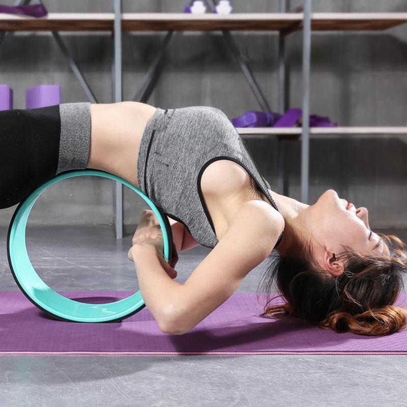TPE Yoga Kreise Pilates Professionelle Taille Form Bodybuilding ABS Gym Workout Yoga Rad Zurück Training Werkzeug Für Fitness Dance