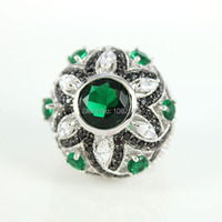 Fashion Woman S AAA Top Quality Zircon Rings Hight Quality Platinum Plated Austrian Zircon Emerald Crystal
