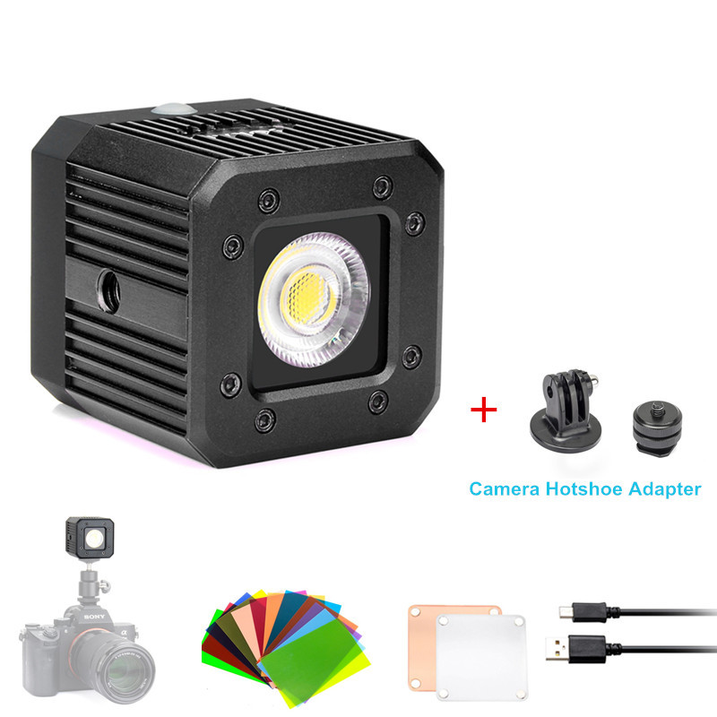 Sokani X1 8W Dimmable Mini Waterproof LED Video Light for Smartphone Camera GoPro iPhone Sony Nikon