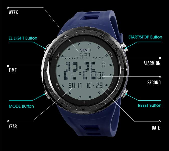 Men's Watches Considerate Watches Men Waterproof Solar Power Sports Casual Watch Man Mens Wristwatches Dual Time Digital Quartz Led Clock Men Relogios
