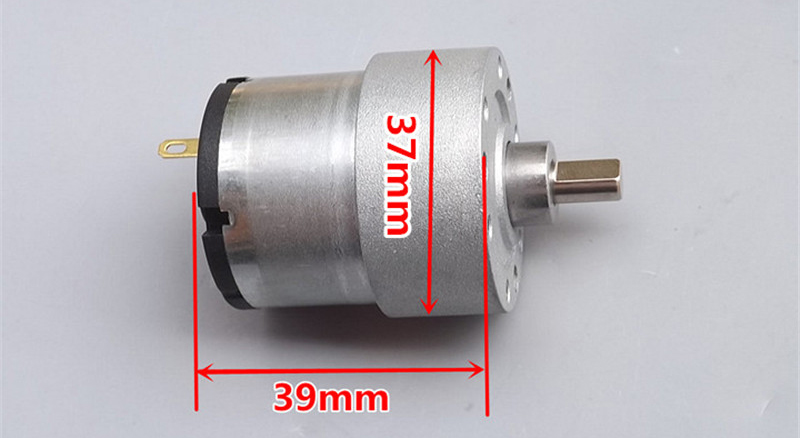 Positive and reverse 500 DC speed reduction motor 37 all metal gear reducer DC6V 9V 12V 275-550rpm 80mA
