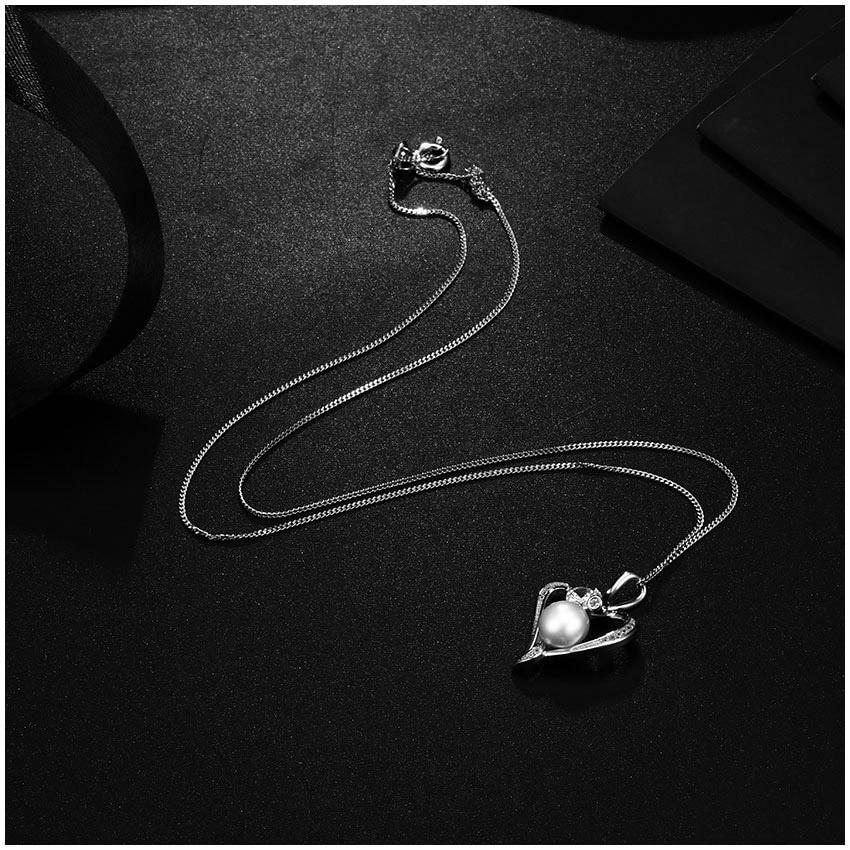 Hongye Romantisches Herz Sterling Silber Schmuck Set Perlenkette & - Edlen Schmuck - Foto 3