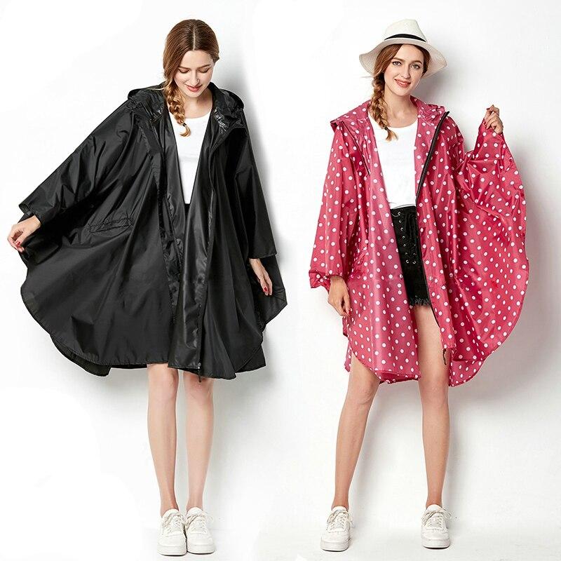 100% Polyester Portable Travel Camping Accessories Waterproof Women Raincoat Ladies Rain Coat  Breathable Long Rainwear Suit