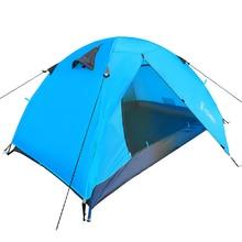 Ultra-leve 1.8 KG de Lona Dupla Camada Barraca de Acampamento 2 Pessoas Caminhadas Trekking Mochila Barraca de Turismo de Pesca Carpas Tente