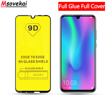 9H Full Cover Glue Tempered Glass For Honor 10 Lite View 20 Huawei P Smart Y9 Y7 Y6 Pro Prime 2019 9D Screen Protector