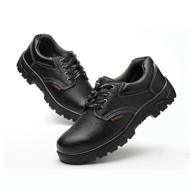 Iş Güvenliği Ayakkabıları Erkekler Çelik Ayak PU Deri Nefes Güvenlik Botları Kauçuk Taban Delinme dayanıklı Kaymaz Emek Koruyucu Ayakkabı