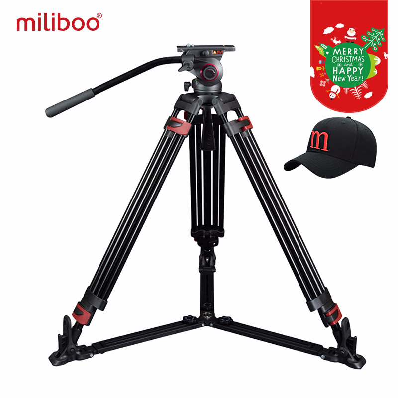 miliboo MTT609A Professional Heavy Duty Hydraulic Head Ball Camera Tripod for Camcorder / DSLR Stand Video Tripod Load 15 kg Max