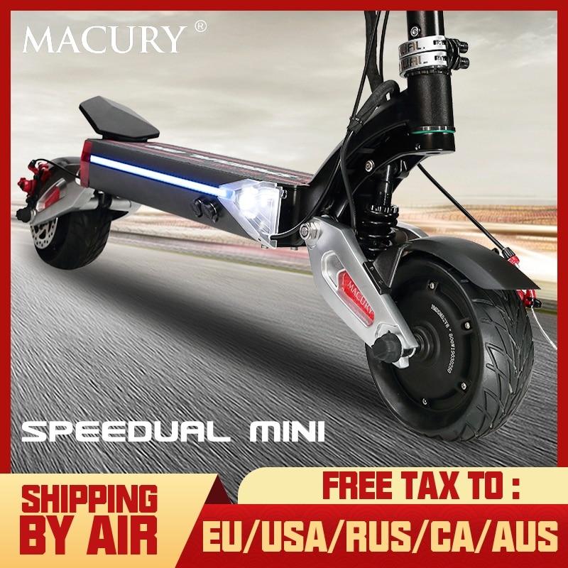 Macury Speedual Mini 8 pouces double moteur scooter électrique 52V1600W tout-terrain 55 km/h double entraînement 8 pouces pneu solide zero8x zero 8X