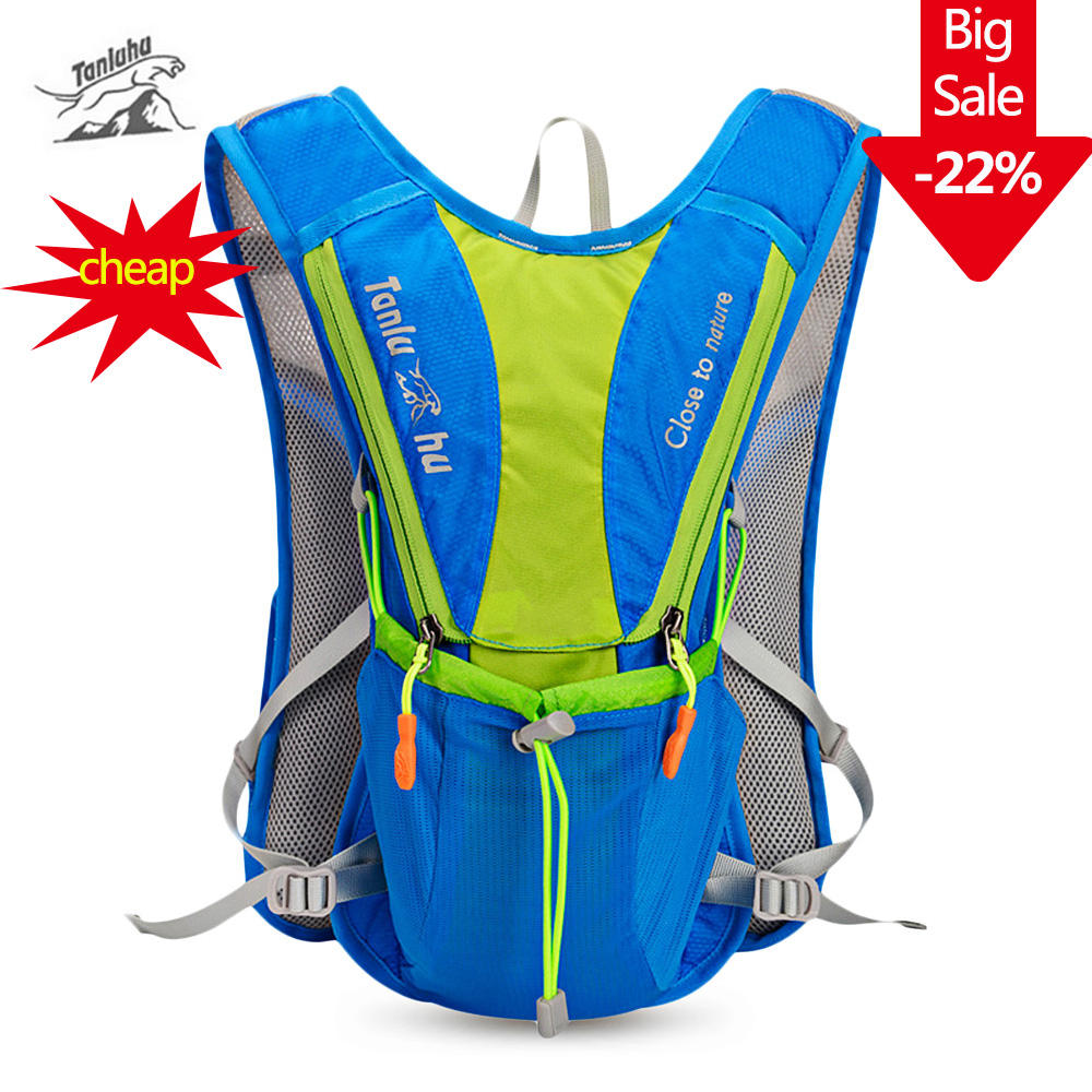 Tanluhu Nylon 10L Marathon Hydration Bag Outdoor Running Bags Hiking Backpack Vest Cycling Bike Bicycle Backpack Hydration Vest