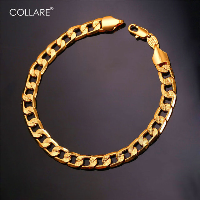 Collare Bracelet Men Jewelry Wholesale GoldRose GoldBlackSilver