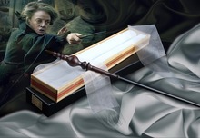 new arrive metal iron core lord voldemort wand harry potter magic magical wand elegant ribbon gift box packing 2019 New Iron Core Minerva Mcgonall Magic Wand/ Harry Magical Wand/ Original Ribbon Gift Box Packing Free Train Ticket