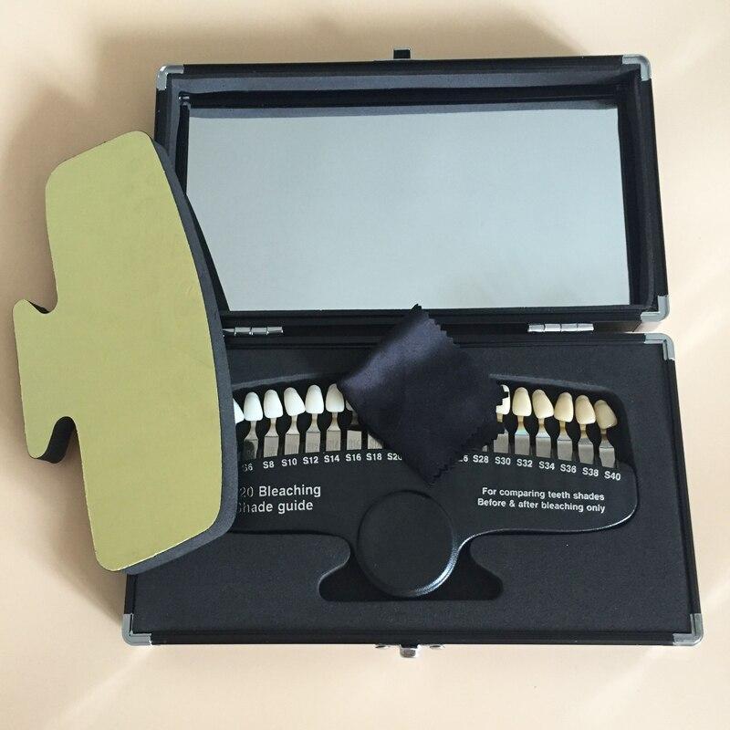 20 ألوان luxary التعبئة الأسنان 3D الظل دليل اللون المقارنة مع مرآة لتبييض الأسنان-في تبييض الأسنان من الجمال والصحة على  مجموعة 1