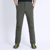 Outdoor Sports Pants Men Climbing Hiking Pants Soft Shell Pants Outdoor Wind Pants In Winter Trousers