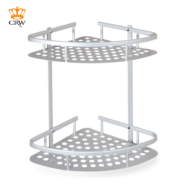 Aliexpress.com : Buy CRW 2 Tier Shower Caddy Bathroom Corner Shelf ...