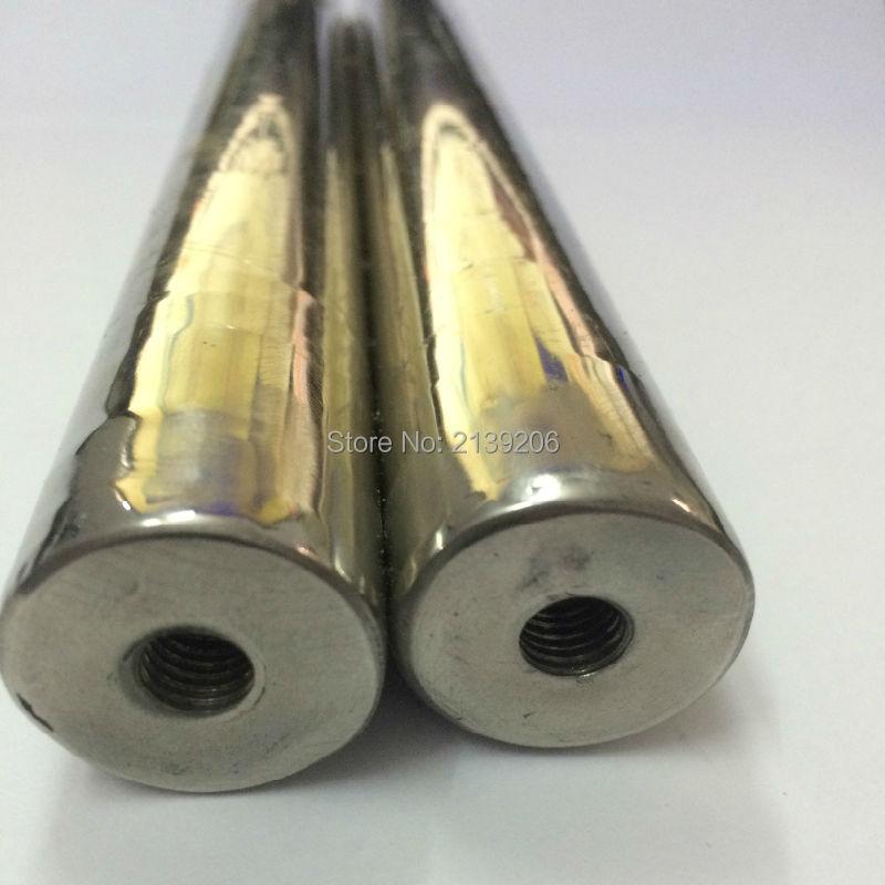 6 unids D32 * 200mm 12000 Gauss imán de neodimio fuerte retiro material del hierro de la barra con el agujero interno del tornillo