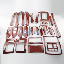цена на For Toyota Land Cruiser 150 Prado LC150 FJ150 2010-2017 Wooden Color Cover Trim Panel Chrome Car Styling Prado Accessories