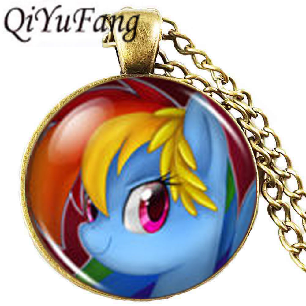 Rainbow Dash Necklace with gift bag Children/'s My Little Pony Necklace