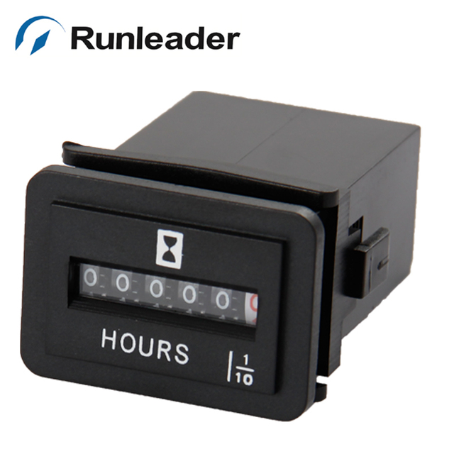 (20pcs/lot) Runleader HM001 Truck Motorcycle mechanical Vehicle Boat Black  color DC Hours meters hour meter-in Instruments from Automobiles &