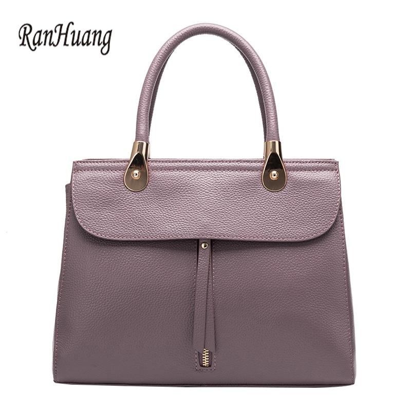 RanHuang 2017 Women Luxury Handbags High Quality Genuine Leather Handbags Ladies Elegant Shoulder Bags Designer Messenger