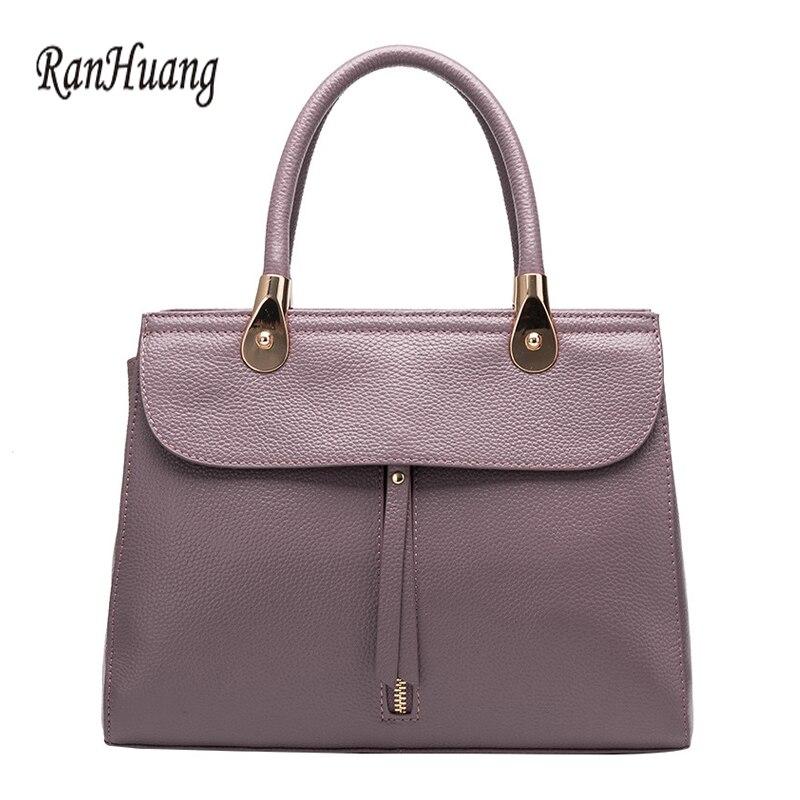 RanHuang 2017ผู้หญิงหรูหรากระเป๋าถือที่มีคุณภาพสูงกระเป๋าหนังแท้ผู้หญิงกระเป๋าสะพายหรูหราออกแบบกระเป๋าMessenger-ใน กระเป๋าสะพายไหล่ จาก สัมภาระและกระเป๋า บน   1