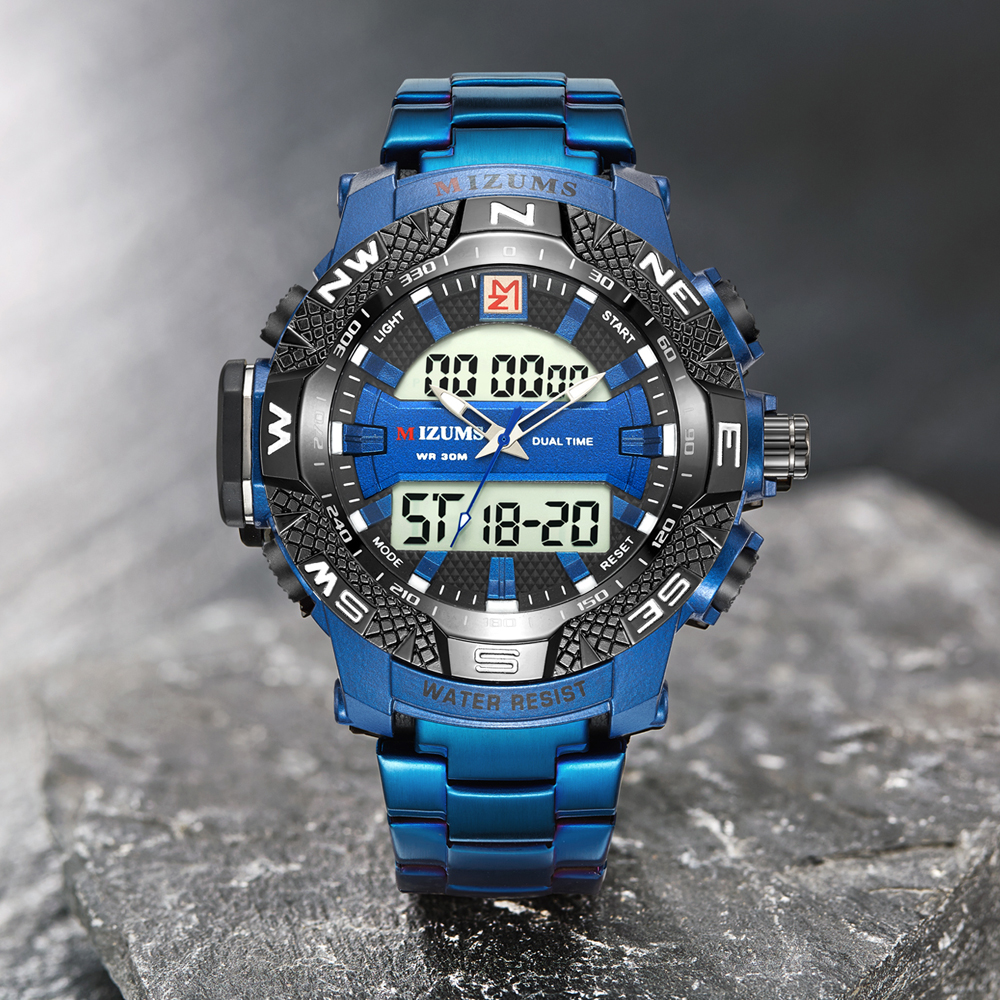 wholesale Military Watches Men Luxury Brand Full Steel Watch Sports Quartz Multi-function LED Waterpoof Gold Wristwatch Relogio Masculino 2019 drop shipping (13)