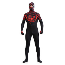 2019 New Adults Carnival Clothing The Avengers Black Spiderman Cosplay Costume Spider-man Halloween Suit Full Body Lycra Zentai