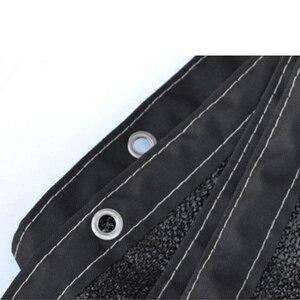 Image 5 - الشمس الظل الشراع الأسود HDPE شبكة وقاية من الشمس الشمس المأوى في الهواء الطلق حديقة Sunblock قماش للتظليل غطاء للفناء المضادة للأشعة فوق البنفسجية غطاء سيارة 2 متر 4 متر 5 متر 6 متر