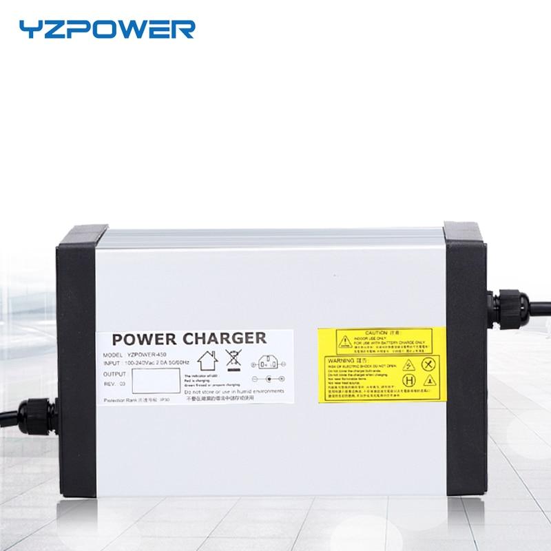 YZPOWER 24 S 87,6 в 8A 7A 6A 5A быстрее Lifepo4 батарея зарядное устройство для 72 Ebike батарея с 4 вентилятор охлаждения