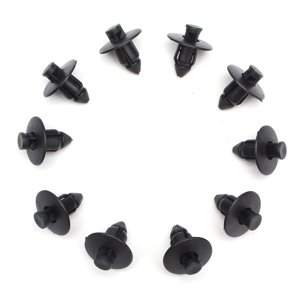 10 pcs Rebites de Plástico Clips Guarnição 8mm Para Suzuki Amortecedores Kit Painel Sills Aparar Novo
