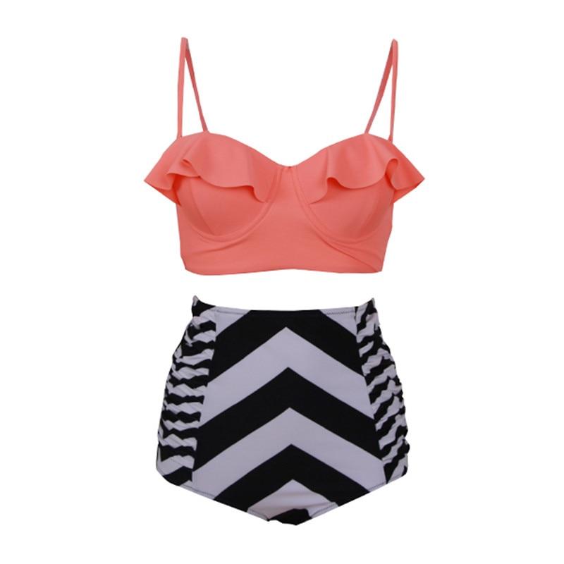 HYCOOL Two Piece Bikini 2017 Plus Size 3XL Swimwear Dress Print Female Swimsuit Women Tankini Set Bathing Swim Suit 622