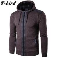T Bird Men Hoodies Fashion 2017 Brand Winter Clothing Men Hoodie Motion Wool Sweatshirt Slim Fit