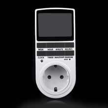 Neue EU Stecker in 7 Tag 12/24 h AC Digital LCD programmierbarer Timer 16A3680W regelmäßige buchse für küche kann auf 10 gruppen