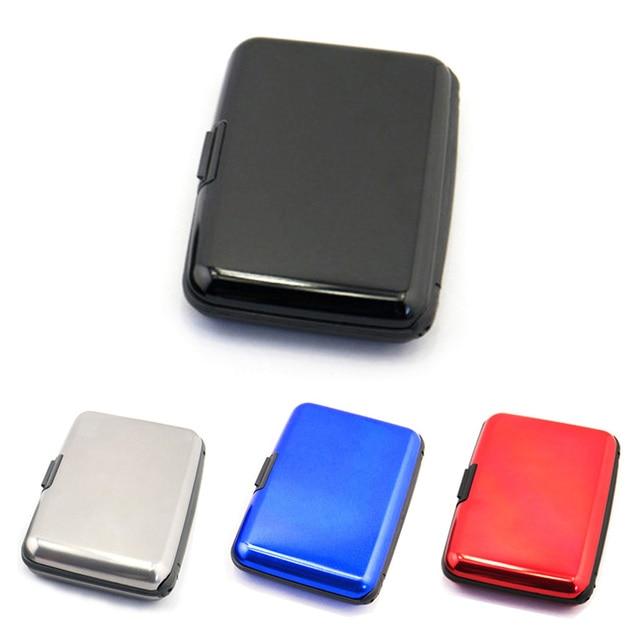 plus récent 87261 cd2b3 € 1.45 24% de réduction|ID carte de crédit portefeuille étanche Anti  magnétique cartes en métal aluminium boîtier en métal boîte d'affaires  titulaire ...