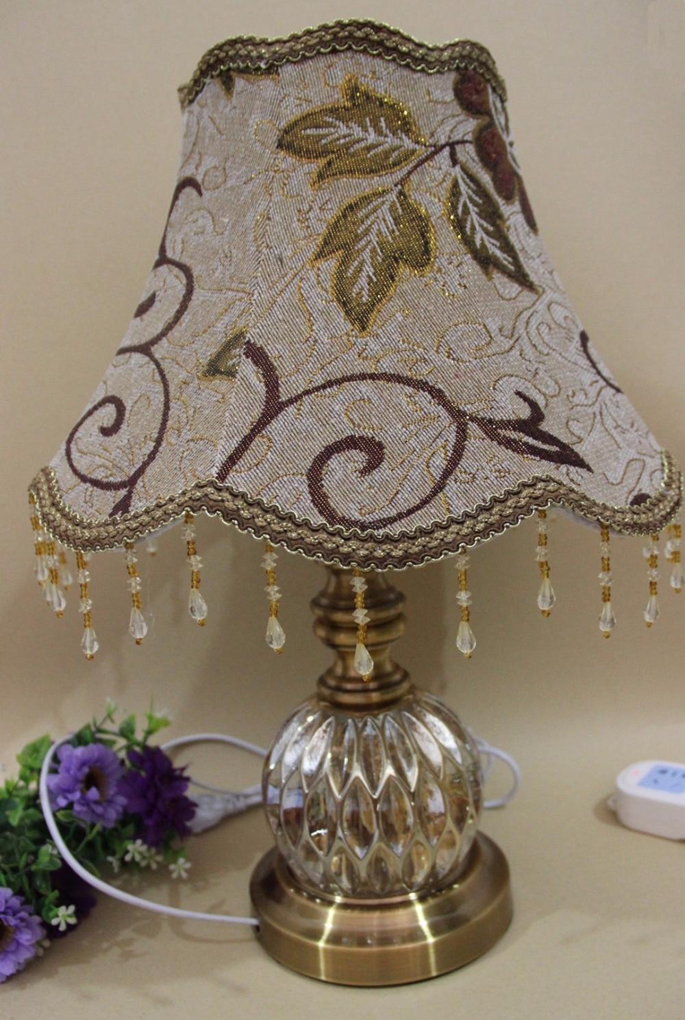 bronze color table lamp romantic european luxury Modern Art For Bedrotable lamp bedroom Living Room Bedside Lamp