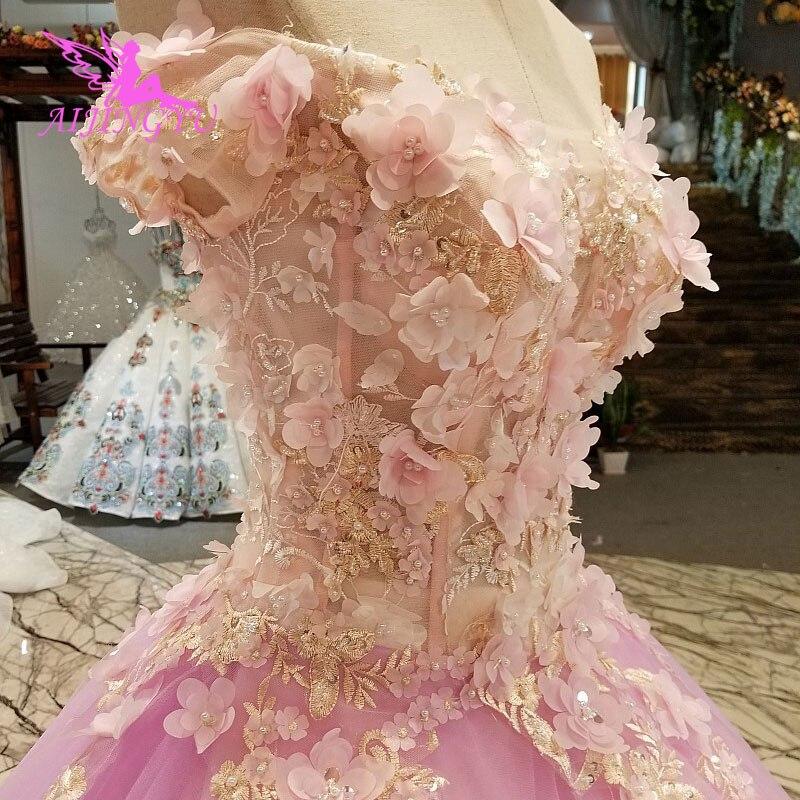 AIJINGYU robes de mariée Junior robes uniques mariée achats en ligne Designers robe de mariée robe de mariée avec luxe détachable - 6