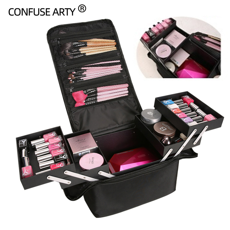 Storage-Case Cosmetic-Bag Makeup Multilayer Professional Large-Capacity High-Quality title=