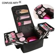 Hoge Kwaliteit Professionele Make Up Cosmetische Tas Grote Capaciteit Storage Case Multilayer Koffer