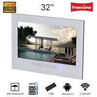 бесплатная доставка 32 дюймов android 4,2 смарт wifi 1080p белый ванной телевизор черный водонепроницаемый телевизор