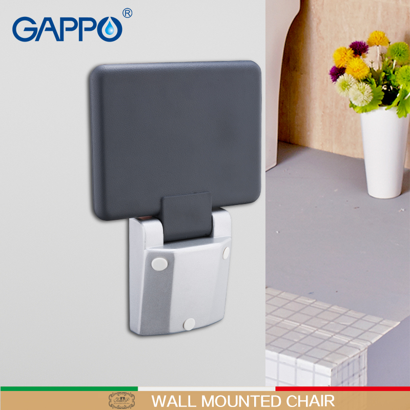 GAPPO Wall Mounted Shower Seat folding bench for child toilet folding shower chairs Bath shower Stool Cadeira bath chair        GAPPO Wall Mounted Shower Seat folding bench for child toilet folding shower chairs Bath shower Stool Cadeira bath chair