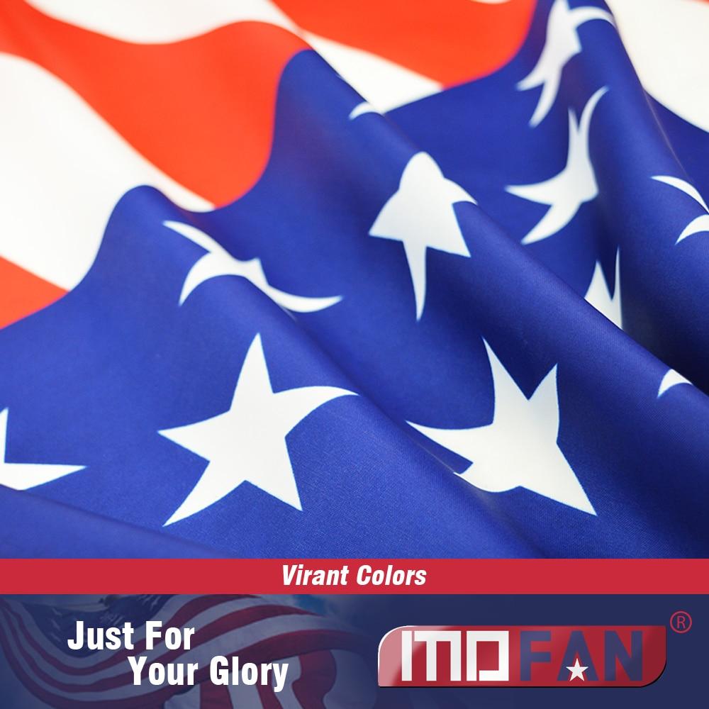 MOFAN US Flag American National Flag- Canvas Header and Double - Heminredning - Foto 2