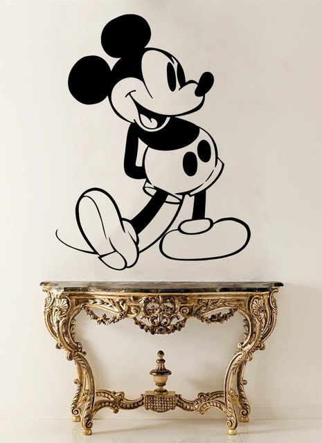 Mickey Mouse Vinyl Wall Stickers Cartoon Animal Removable DIY Decal Full Of Spirit Mickey Kids Nursery & Mickey Mouse Vinyl Wall Stickers Cartoon Animal Removable DIY Decal ...